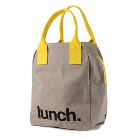 Lunch Bag by Fluf Zip Organic Cotton Lunch Bag Lunch 224 Porter