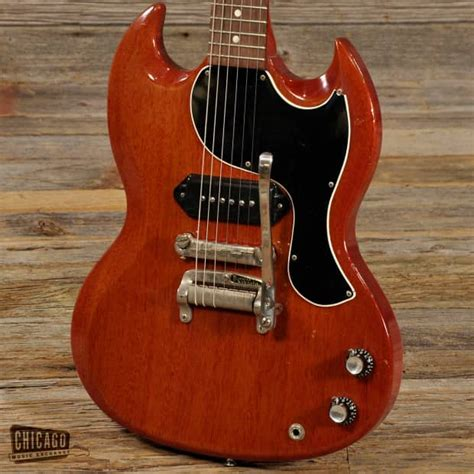 Tremollo Gibson gibson sg junior with tremolo cherry 1963 price reduced reverb