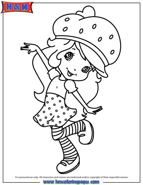 hasbro strawberry shortcake character dancing coloring