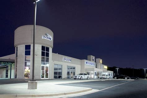 jaguar dealership car dealership and car lot lighting application areas