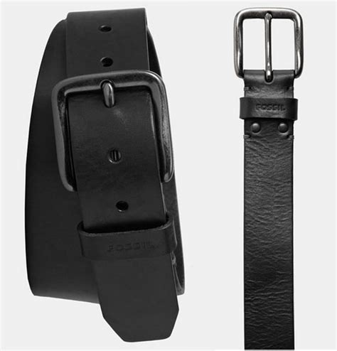 Styles Fossil Hardware Black Smooth Leather 1339 prettytreasure2u fossil brody leather belt