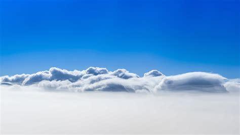 clouds blue sky 4k sky landscape blue white