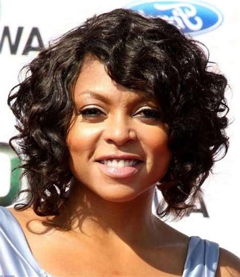 inverted bob for african american women short curled bob haircuts for round faces black women