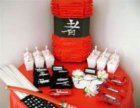 Japanese Themed Party Decorations - asian ninja karate chinese japanese birthday quot ninja nino s 5th birthday party quot catch my party