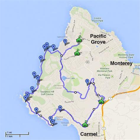 pebble california map 17 mile drive pebble ca california beaches