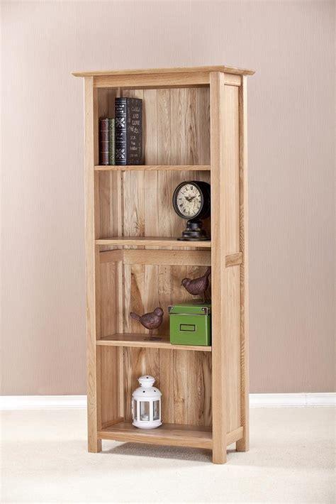 5 shelf narrow devon oak narrow bookcase 4ft 11 tall with 4 shelves oak