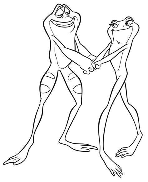 princess and the frog coloring pages frog prince coloring pages az coloring pages
