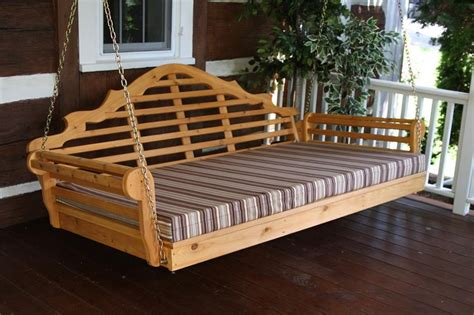 amish cedar wood  marlboro single mattress swing bed