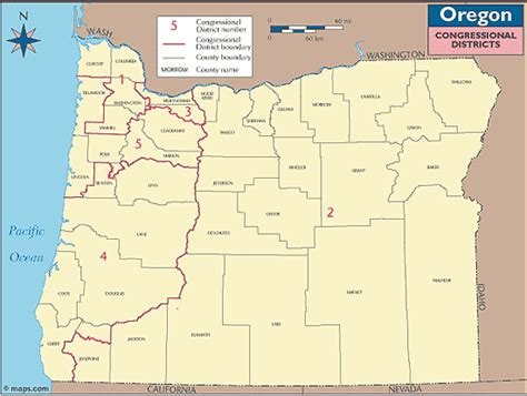 map of oregon legislative districts oregon congressional districts map by maps from maps