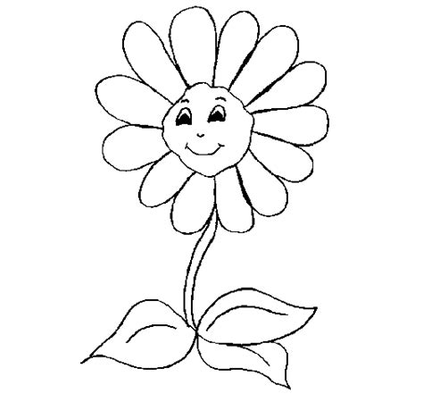 happy flower coloring page happy flower coloring page