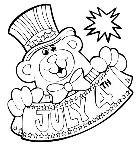 free coloring pages fourth of july coloring pages