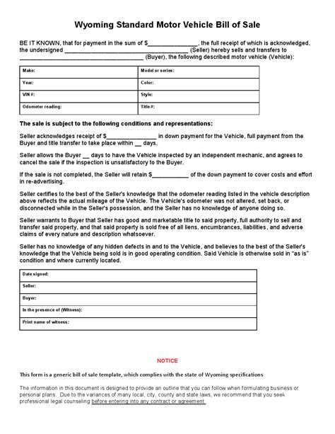 free used car bill of sale template expin franklinfire co