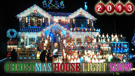 christmas lights on house christmas house light show 2013 best christmas outdoor decorations in new york