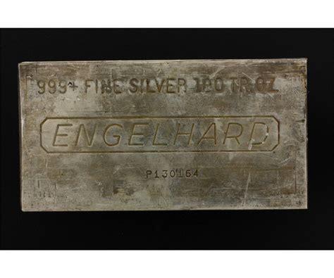 1 troy oz engelhard silver bars silver bar 1 100 troy oz engelhard 999 silver bar