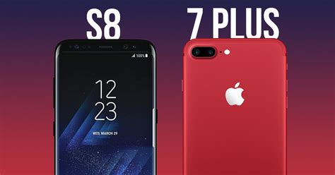 samsung galaxy s8 vs apple iphone 7 plus age rivals fight it out yet again 91mobiles