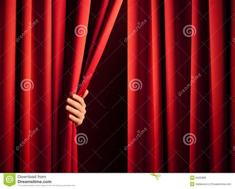opening the curtain opening the curtain royalty free stock photos image 8425898