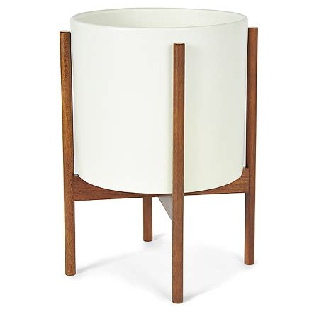 small planter case study cylinder planter with wood stand small digs