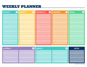 Weekly Schedule Template Pdf by Weekly Planner Template Free Printable Weekly Schedule