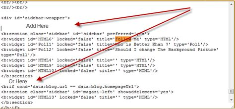 coding information that pertains to an entire section how to add new widget sections in blogger on different places