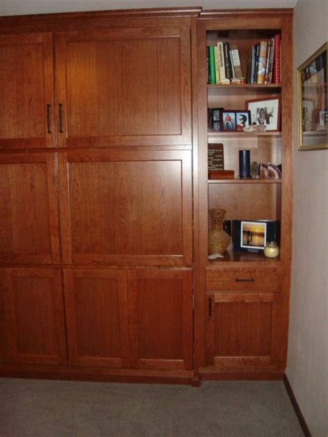 murphy bed wall units quot murphy bed quot wall unit cherry