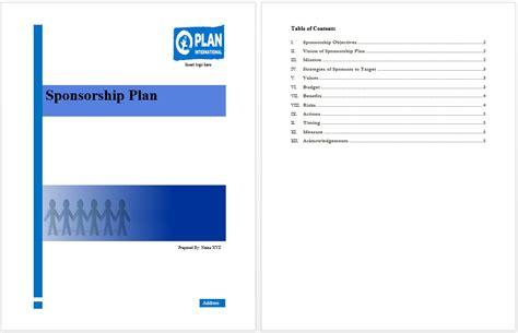 sponsorship marketing plan template sponsorship plan template microsoft word templates
