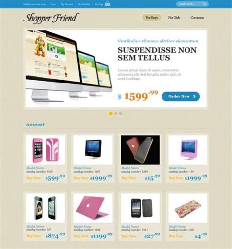 Download 40 Free Html Ecommerce Website Templates Xdesigns Free Ecommerce Template