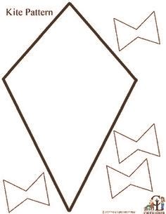 printable kites templates 187 kite pattern coloring nuttin but preschool preschool