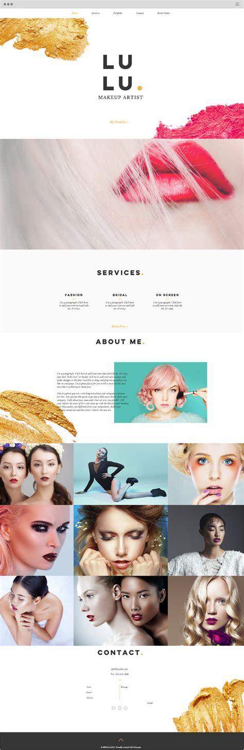 15 Free Website Templates With Built In Features Cosmetic Website Templates