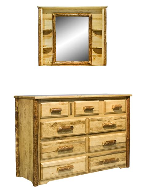 Mirror With Drawer by Glacier 9 Drawer Dresser Deluxe Mirror