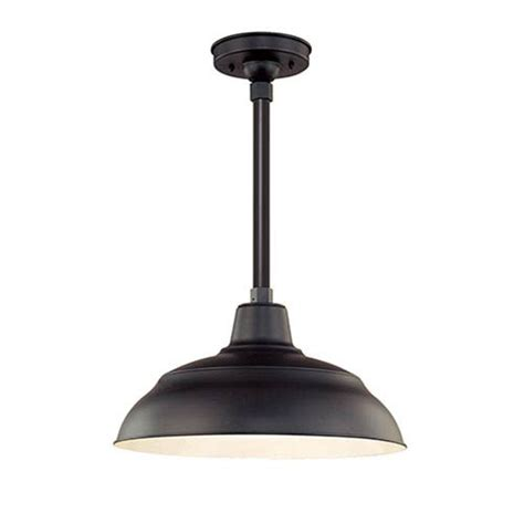 Exterior Pendant Lights R Series Satin Black 17 Inch Warehouse Outdoor Pendant Shade Only Millennium Lighting Meta