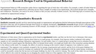 2 qualitative methodologies in organization studies volume ii methods and possibilities books scandura appendix research designs ised in ob docx