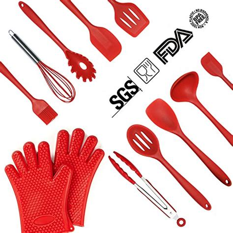 Slotted Spoon Import Quality Spatula Masak lurico silicone kitchen utensils set 12 heat resistant import it all