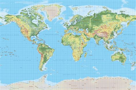 topographical map of world topographic map cartorical