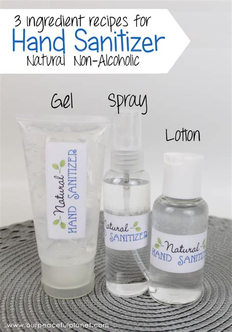 natural diy hand sanitizer  ingredients  alcohol