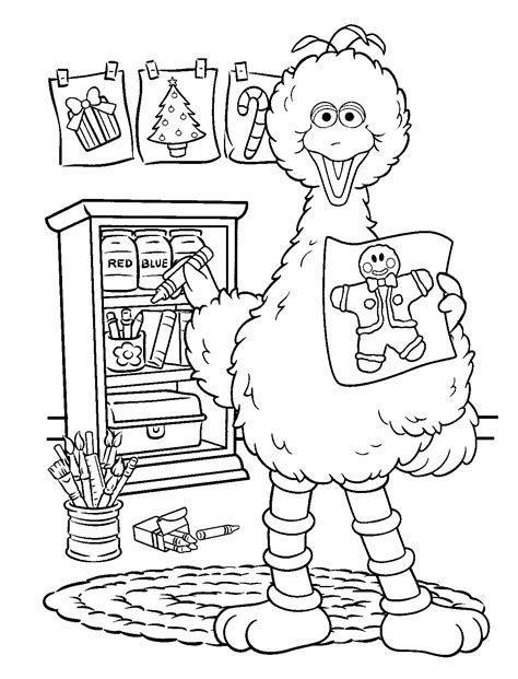 free coloring pages sesame street count