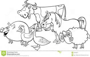 Royalty Free Stock Photography Group Of Cartoon Farm Animals For  sketch template