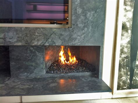 Fireplace With Glass by Real Fyre Gas Burner With Glass Media