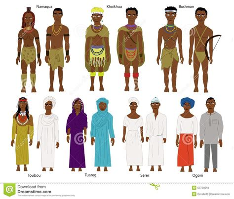 united states map of native american tribes a set of southern and west african tribes and people stock illustration image 53759010