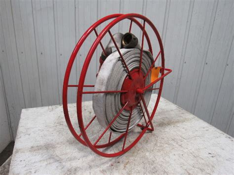 wirt knox swing type large fire hose storage reel  hose nozzle bullseye industrial sales