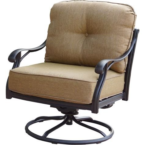 Patio Furniture Cast Aluminum Deep Seating Rocker Swivel Club Swivel Chairs