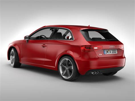 Audi A3 Models by Audi A3 2013 3d Model Max Obj 3ds Fbx Cgtrader