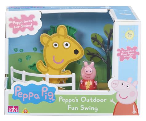 peppa pig swing peppa pig outdoor swing playset at mighty