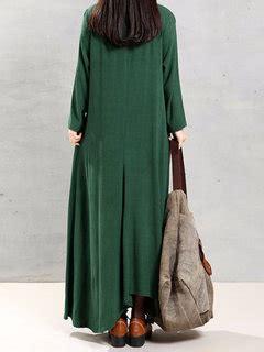 Wap Tunic Dress vintage cotton tunic baggy sleeve maxi dresses