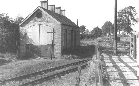 Gwr Engine Sheds shipston on stour station view of the engine shed after it was closed and during the time it