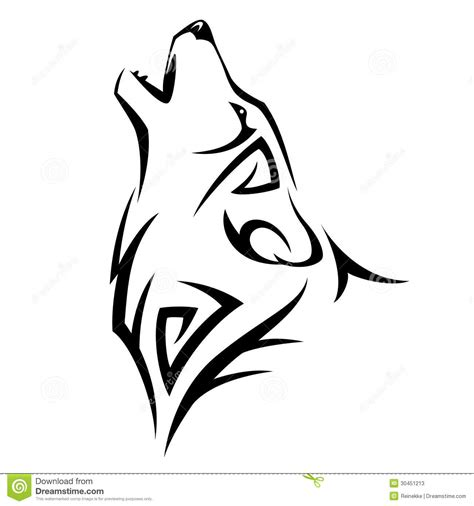 wolf outline tattoo wolf howling outline