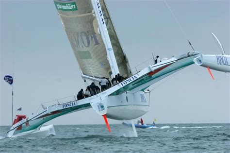 sailboats with two hulls foncia flying two hulls on the water pinterest
