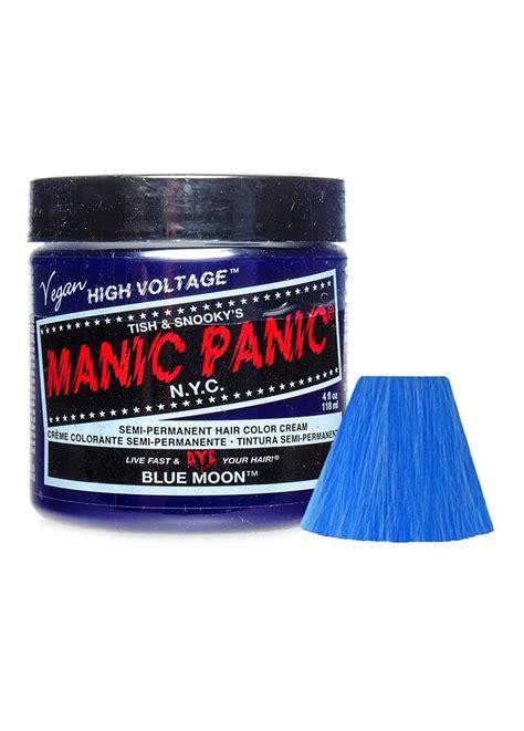 blue manic panic hair dye manic panic blue moon semi permanent hair dye attitude