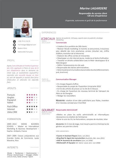 Mod Les De Lettre De R Clamation Gratuites modele de cv redaction cv cv a telecharger cv creatif cv