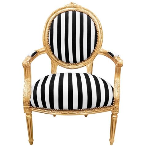 a striped armchair baroque armchair louis xvi black and white striped and