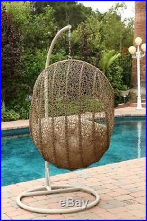 Patio Egg Hanging Basket Chair Patio Swinging Chairs Wicker Egg